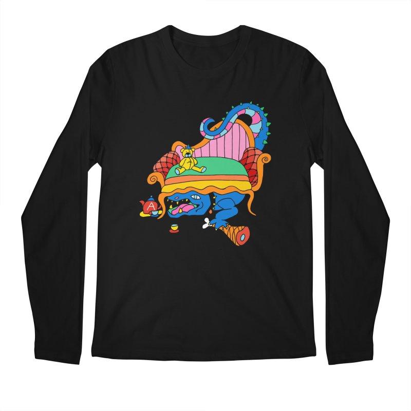 Don't Touch My Teddy Bear Men's Regular Longsleeve T-Shirt by Shelby Works