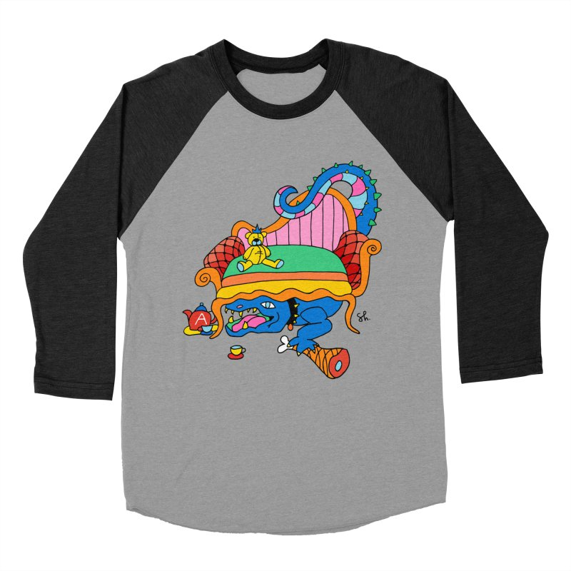 Don't Touch My Teddy Bear Men's Baseball Triblend Longsleeve T-Shirt by Shelby Works