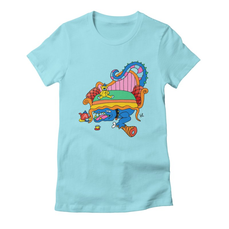 Don't Touch My Teddy Bear Women's Fitted T-Shirt by Shelby Works