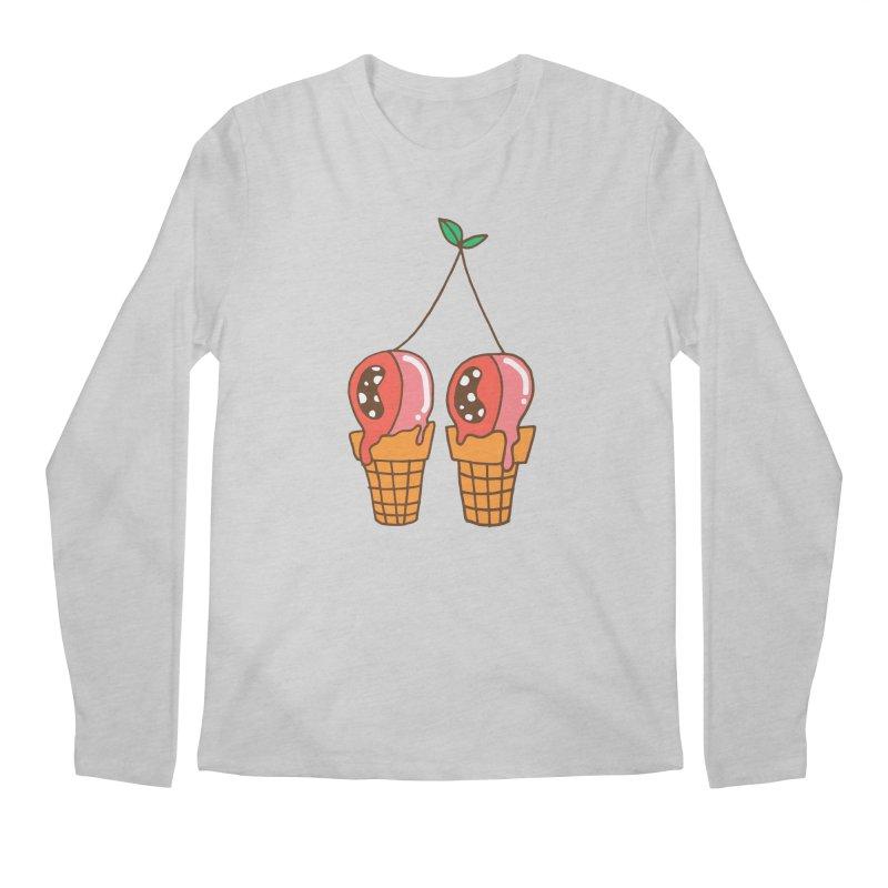 Cherry Ice Cream Men's Regular Longsleeve T-Shirt by Shelby Works