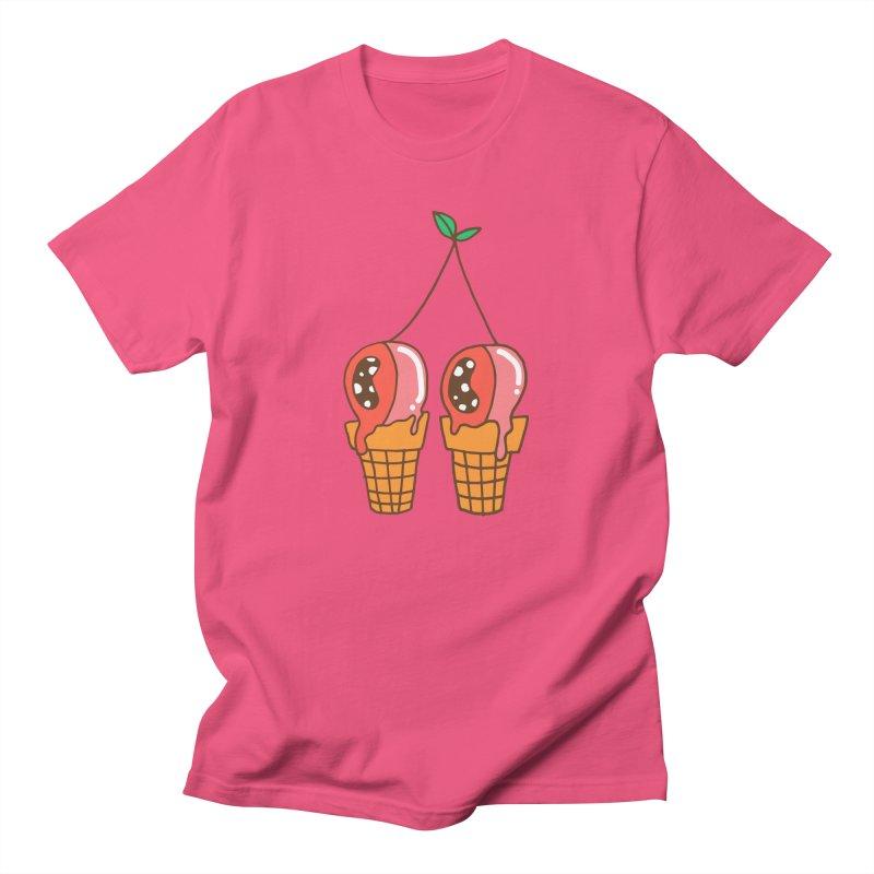 Cherry Ice Cream Women's Regular Unisex T-Shirt by Shelby Works
