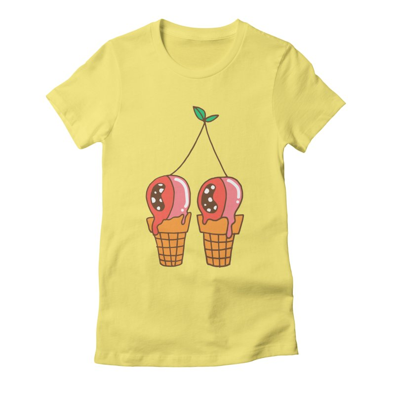 Cherry Ice Cream Women's Fitted T-Shirt by Shelby Works
