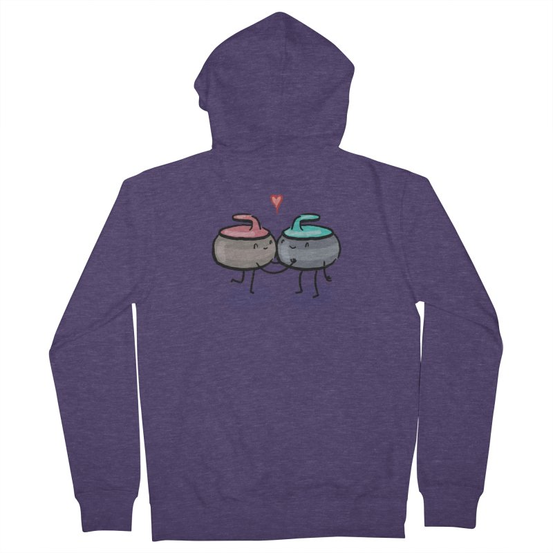 The Kiss Men's French Terry Zip-Up Hoody by Friday the Shirteenth