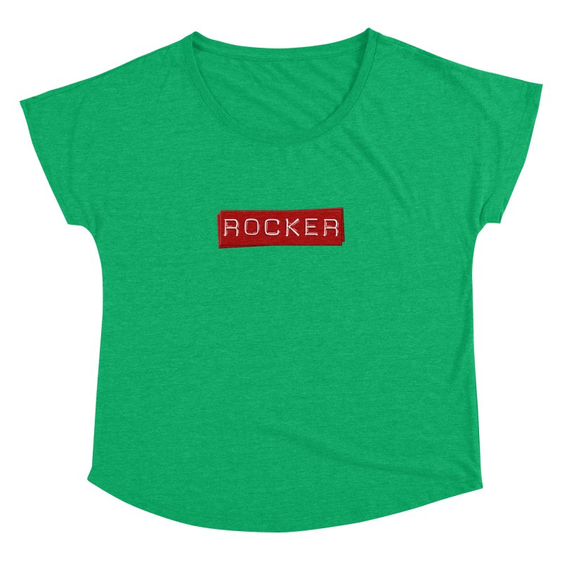 Rocker Women's Dolman Scoop Neck by Friday the Shirteenth