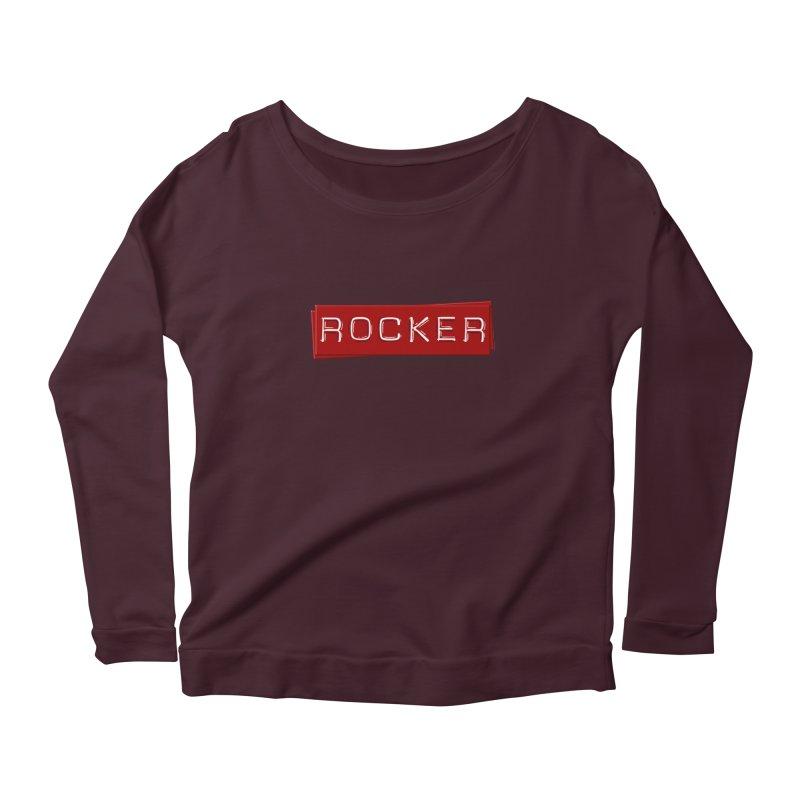 Rocker Women's Scoop Neck Longsleeve T-Shirt by Friday the Shirteenth