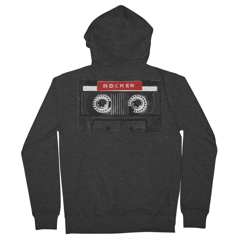 Rocker MixTape Women's French Terry Zip-Up Hoody by Friday the Shirteenth