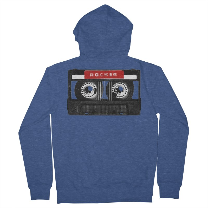Rocker MixTape Men's French Terry Zip-Up Hoody by Friday the Shirteenth
