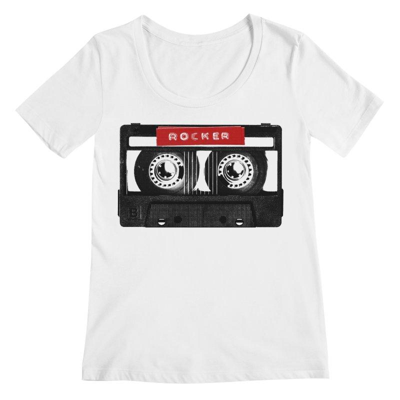 Rocker MixTape Women's Regular Scoop Neck by Friday the Shirteenth