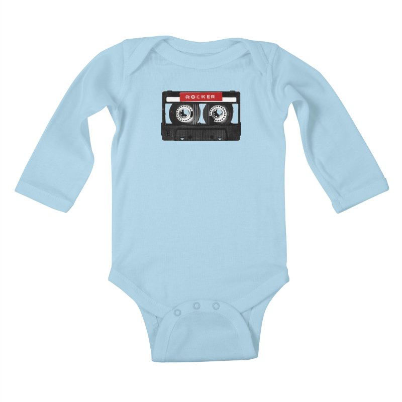 Rocker MixTape Kids Baby Longsleeve Bodysuit by Friday the Shirteenth
