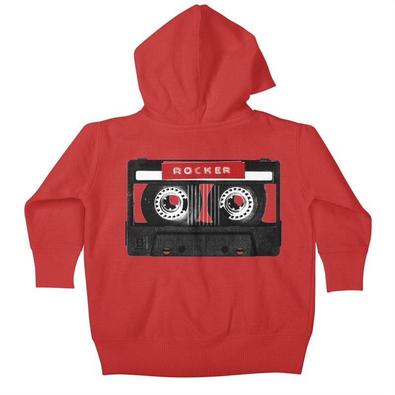 Rocker MixTape Kids Baby Zip-Up Hoody by Friday the Shirteenth
