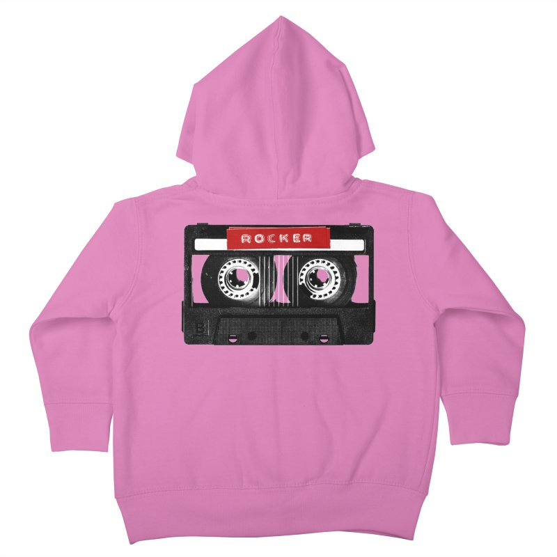 Rocker MixTape Kids Toddler Zip-Up Hoody by Friday the Shirteenth