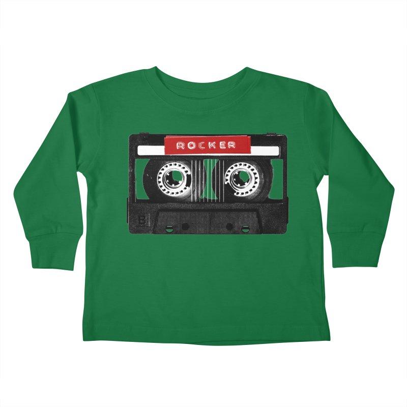 Rocker MixTape Kids Toddler Longsleeve T-Shirt by Friday the Shirteenth