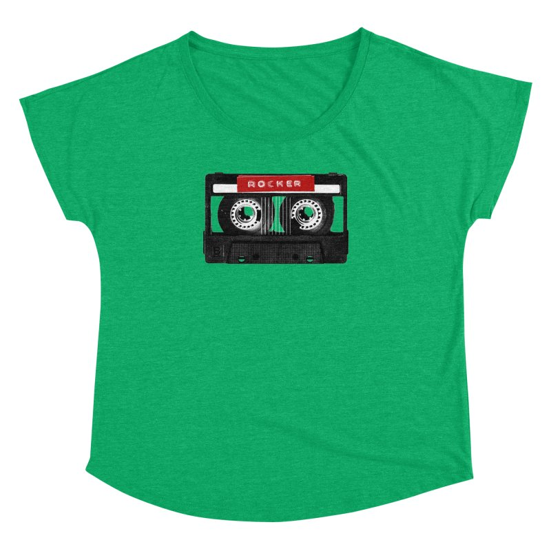 Rocker MixTape Women's Dolman Scoop Neck by Friday the Shirteenth