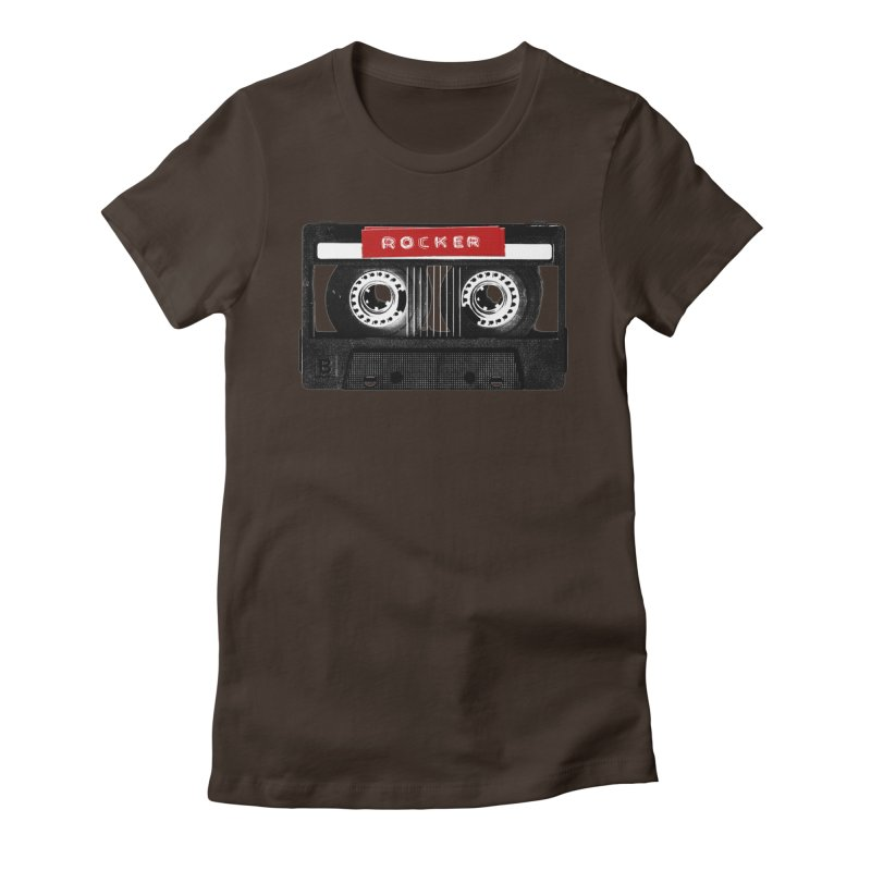Rocker MixTape Women's Fitted T-Shirt by Friday the Shirteenth