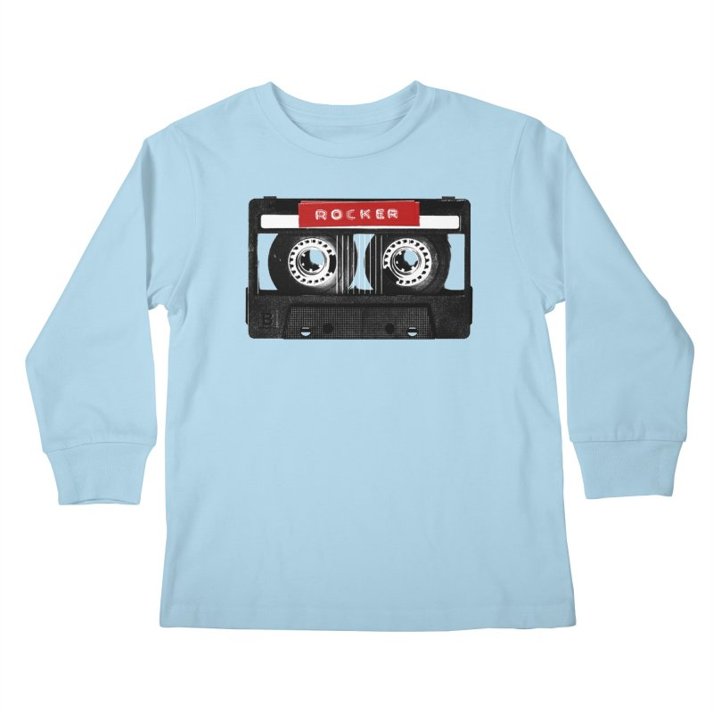 Rocker MixTape Kids Longsleeve T-Shirt by Friday the Shirteenth