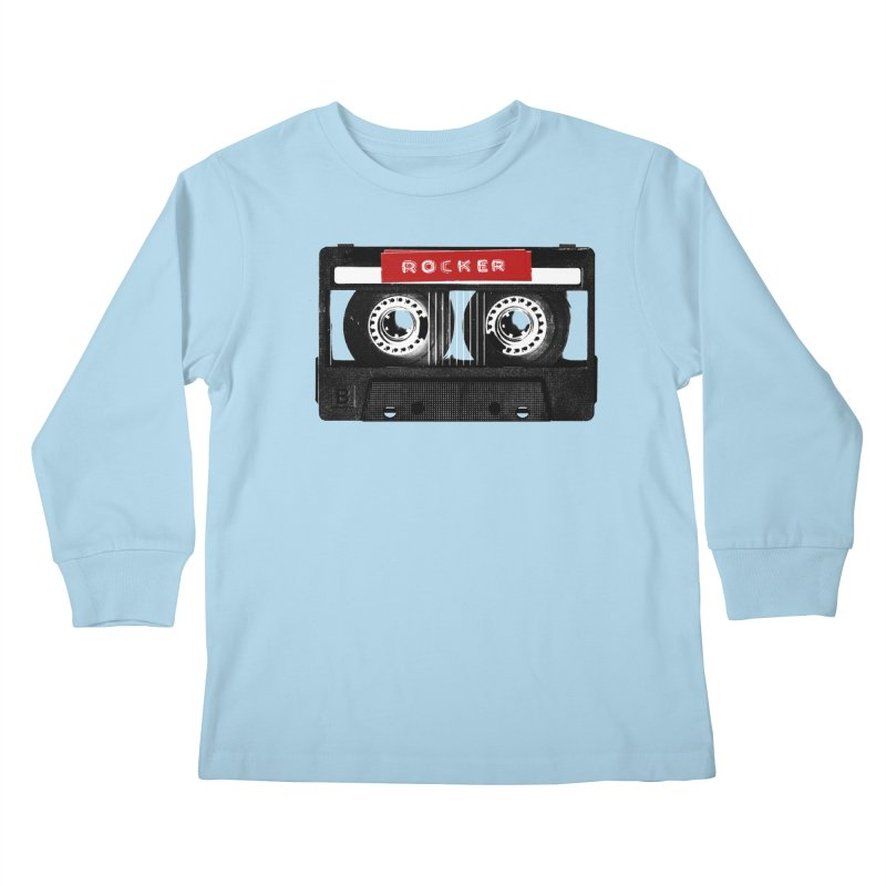 Rocker MixTape Kids Longsleeve T-Shirt by Friday the Shirteenth