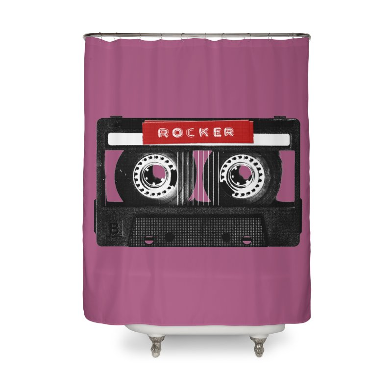 Rocker MixTape Home Shower Curtain by Friday the Shirteenth