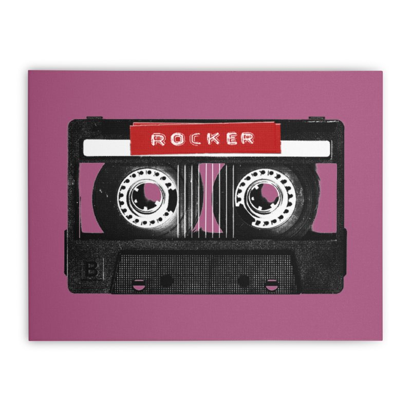 Rocker MixTape Home Stretched Canvas by Friday the Shirteenth