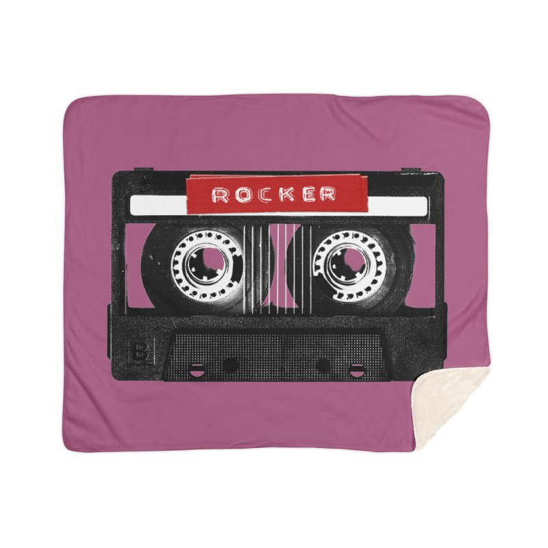 Rocker MixTape Home Sherpa Blanket Blanket by Friday the Shirteenth