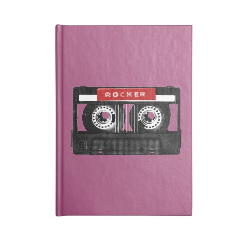 Rocker MixTape Accessories Lined Journal Notebook by Friday the Shirteenth