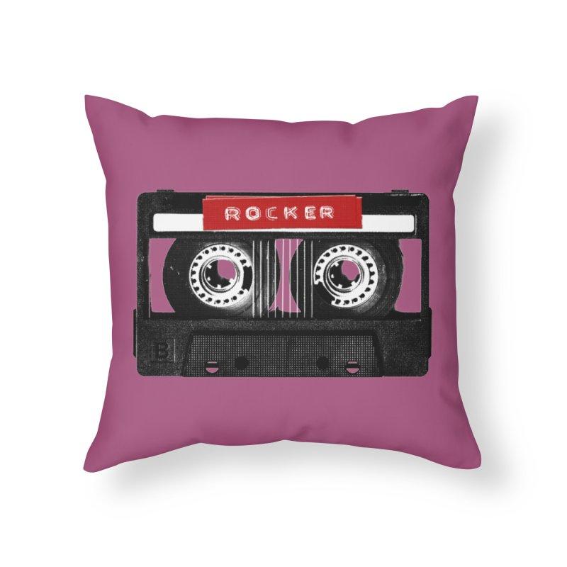 Rocker MixTape Home Throw Pillow by Friday the Shirteenth
