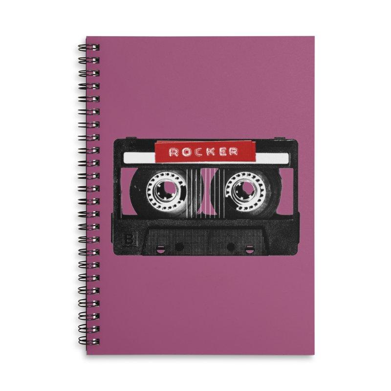 Rocker MixTape Accessories Lined Spiral Notebook by Friday the Shirteenth