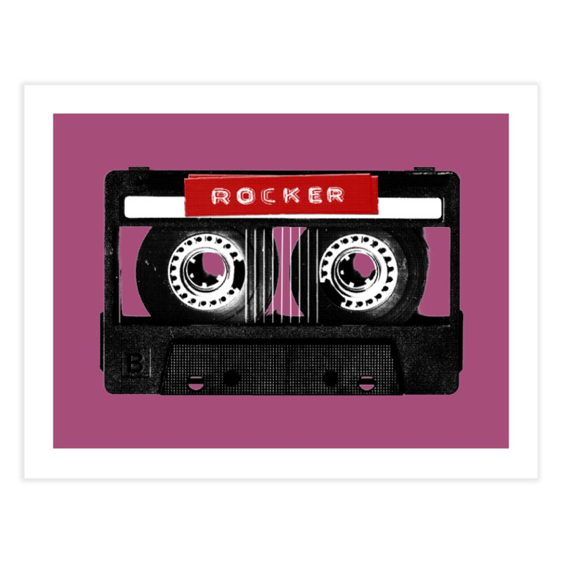 Rocker MixTape Home Fine Art Print by Friday the Shirteenth