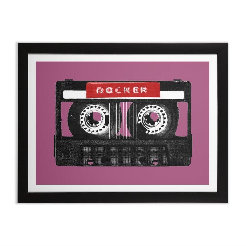 Rocker MixTape Home Framed Fine Art Print by Friday the Shirteenth