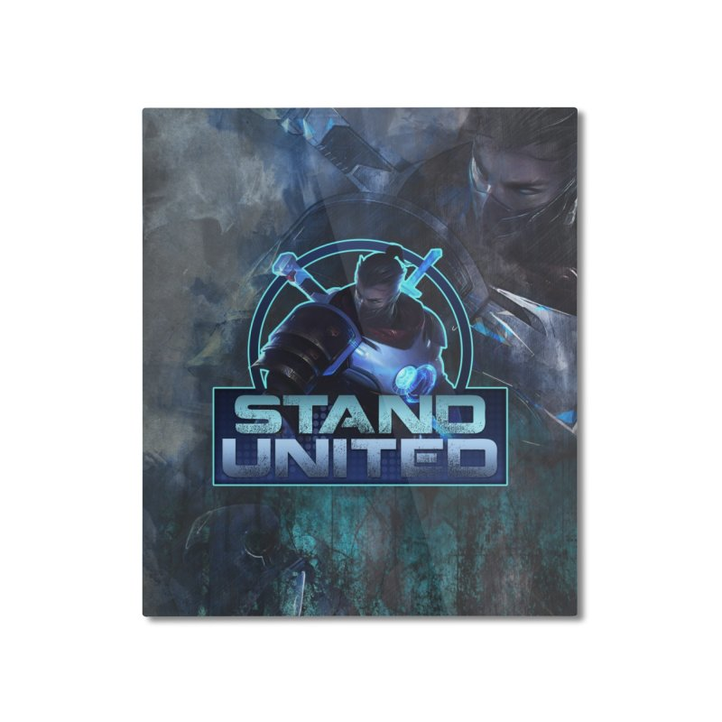 Stand United Home Mounted Aluminum Print by Shirts by Noc