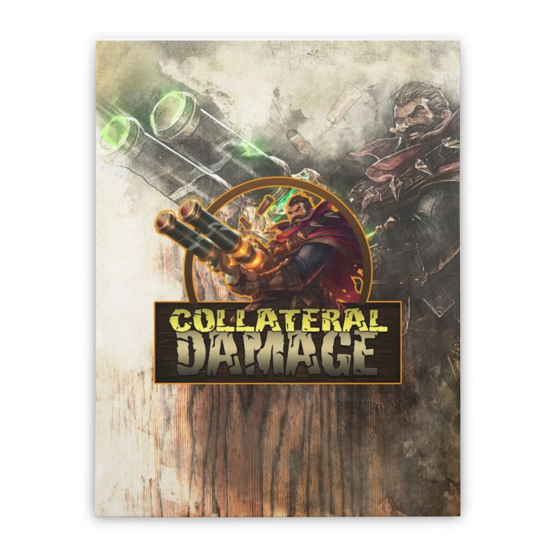 Collateral Damage Home Stretched Canvas by Shirts by Noc