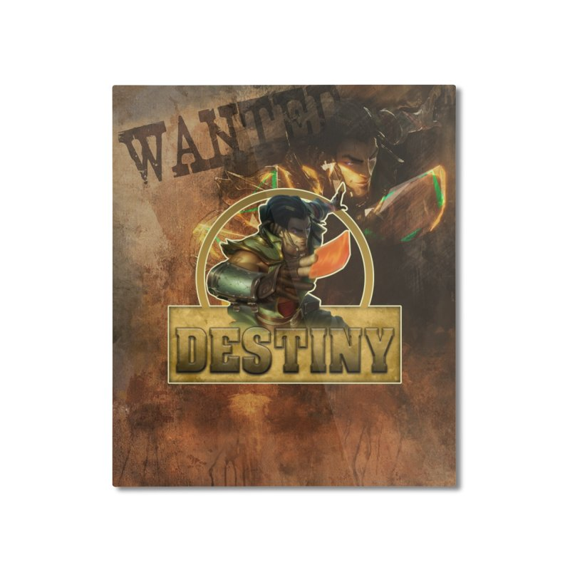 Destiny Home Mounted Aluminum Print by Shirts by Noc