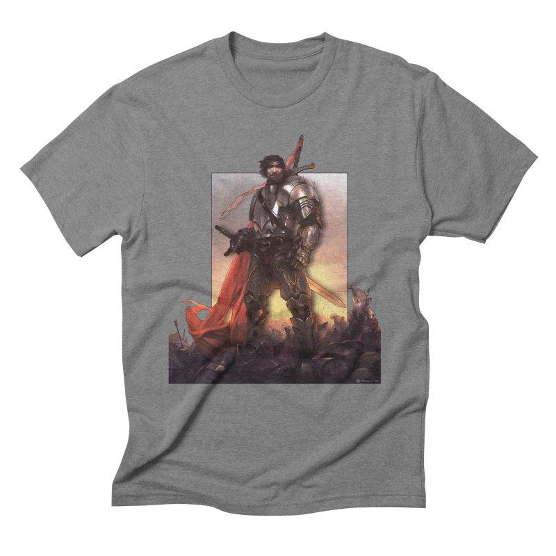 Hero Cutout Men's Triblend T-Shirt by Shirts by Noc