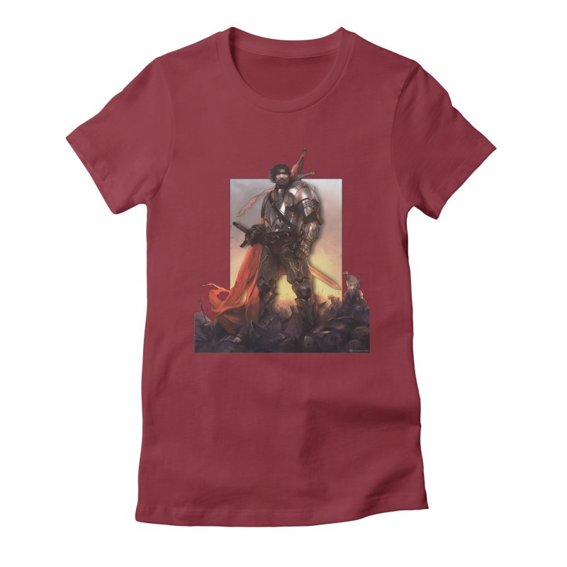 Hero Cutout Women's Fitted T-Shirt by Shirts by Noc