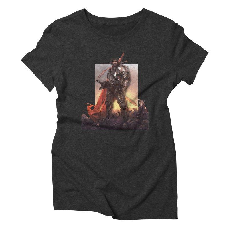 Hero Cutout Women's Triblend T-Shirt by Shirts by Noc
