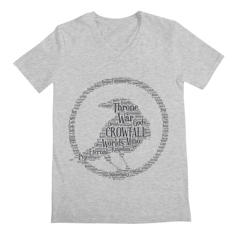 Crowfall Cloud Men's V-Neck by Shirts by Noc