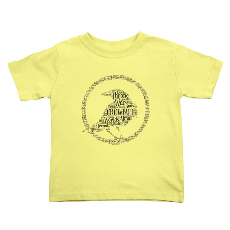 Crowfall Cloud Kids Toddler T-Shirt by Shirts by Noc