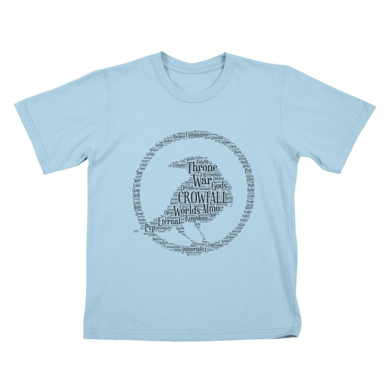 Crowfall Cloud Kids T-Shirt by Shirts by Noc