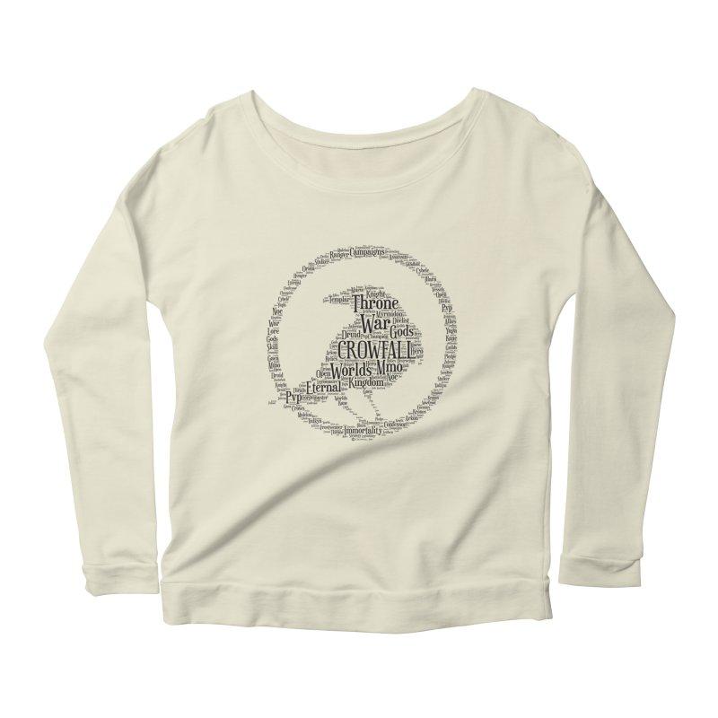 Crowfall Cloud Women's Scoop Neck Longsleeve T-Shirt by Shirts by Noc