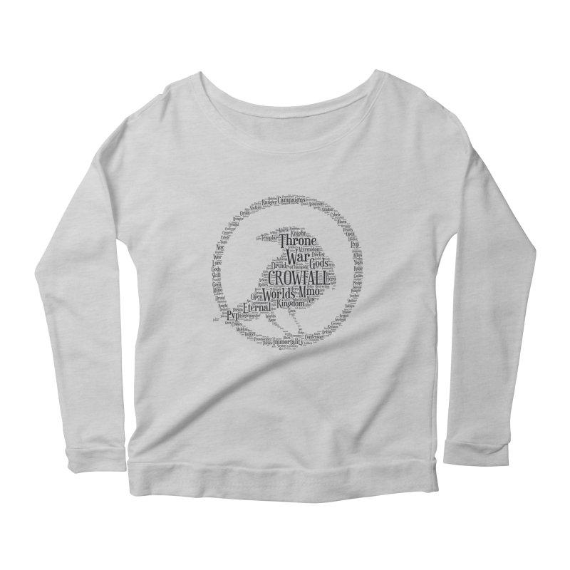 Crowfall Cloud Women's Longsleeve Scoopneck  by Shirts by Noc