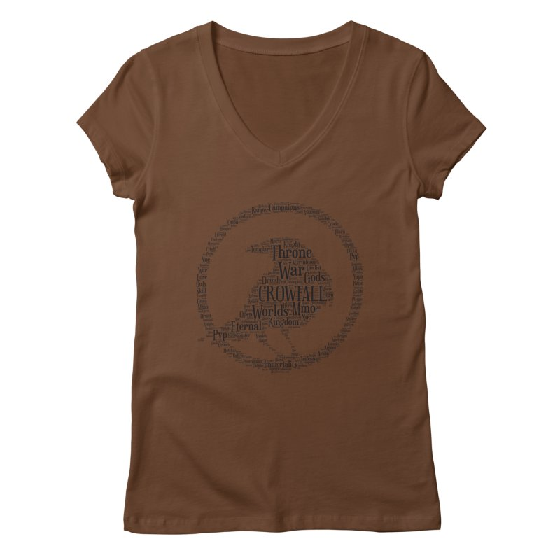Crowfall Cloud Women's V-Neck by Shirts by Noc