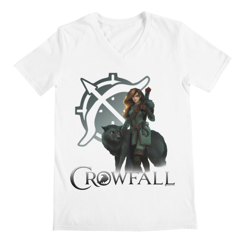 Crowfall Ranger Men's Regular V-Neck by Shirts by Noc