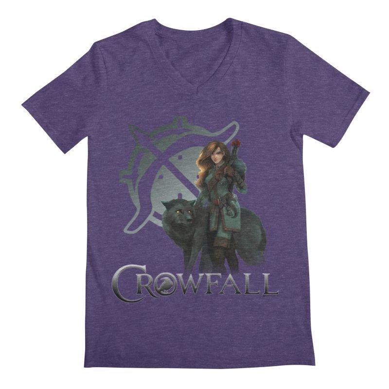 Crowfall Ranger Men's Regular V-Neck by Shirts by Noc