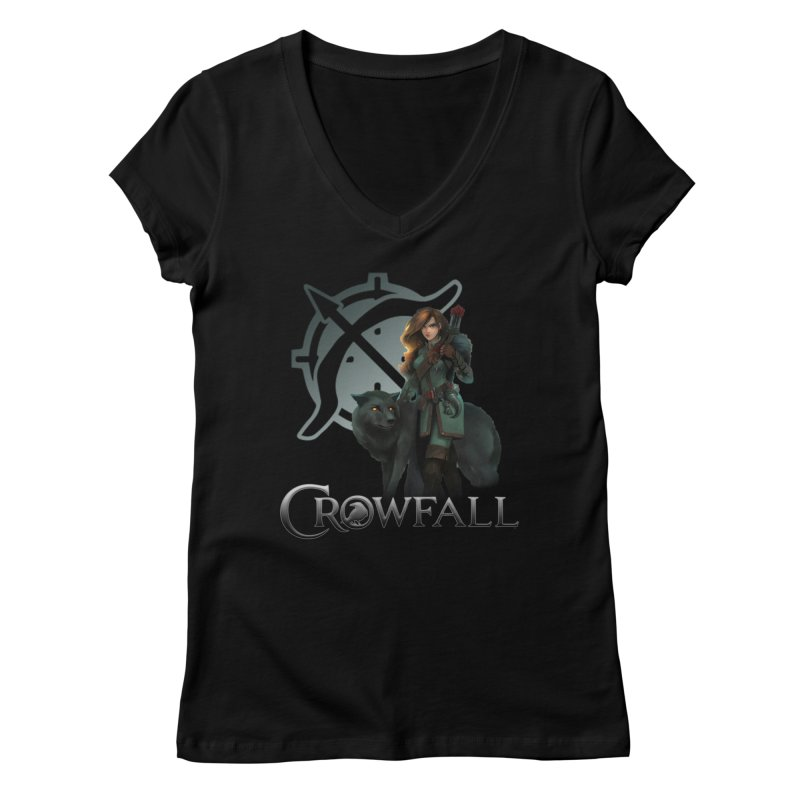 Crowfall Ranger Women's V-Neck by Shirts by Noc
