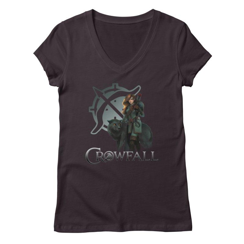 Crowfall Ranger Women's Regular V-Neck by Shirts by Noc