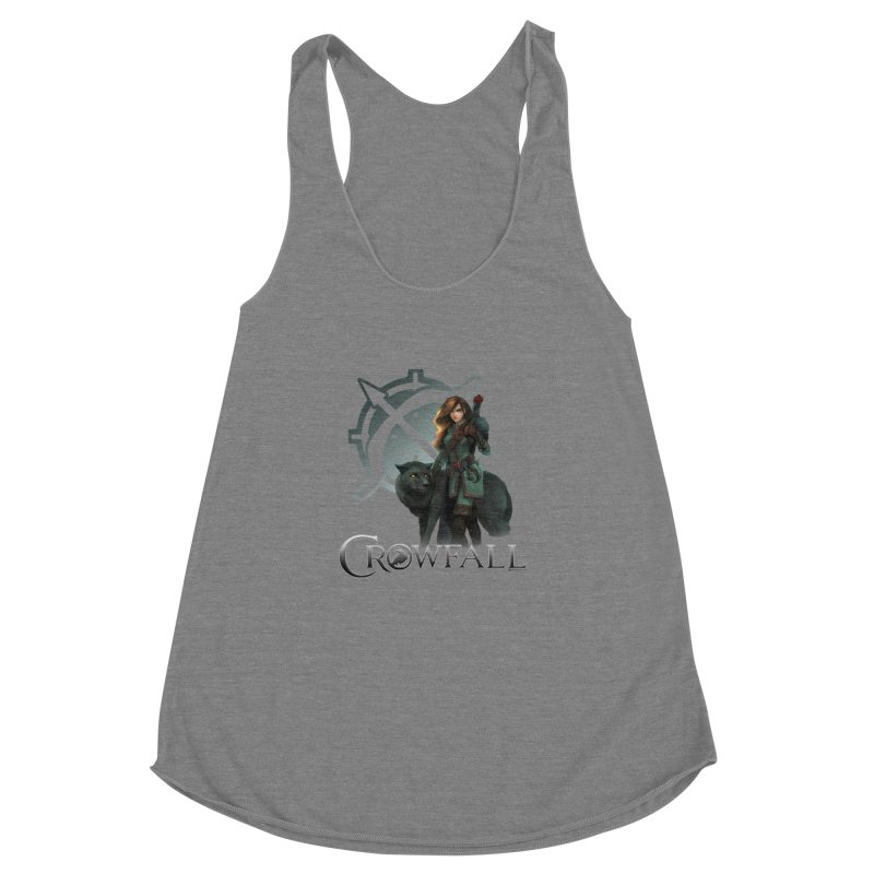 Crowfall Ranger Women's Racerback Triblend Tank by Shirts by Noc