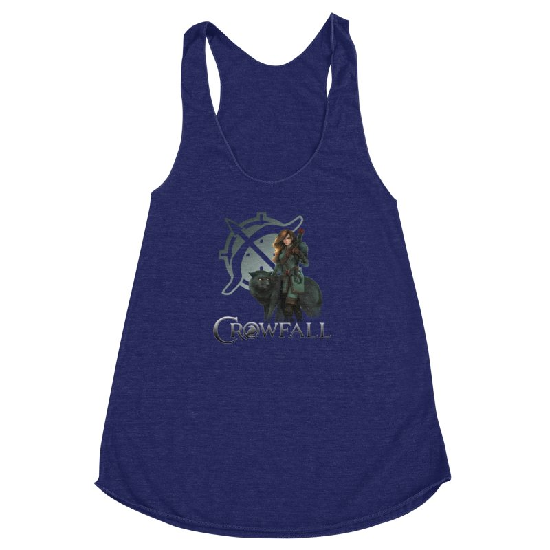 Crowfall Ranger Women's Racerback Triblend Tank by Shirts by Noc