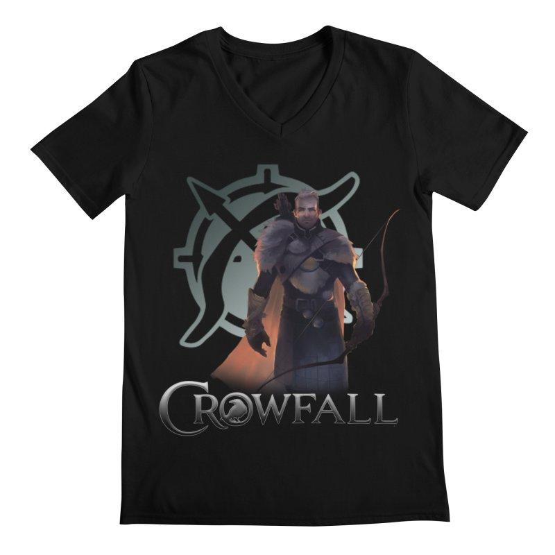 Crowfall Ranger 2 Men's Regular V-Neck by Shirts by Noc