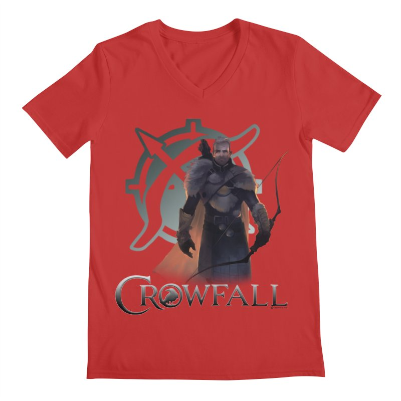 Crowfall Ranger 2 Men's Regular V-Neck by Shirts by Noc