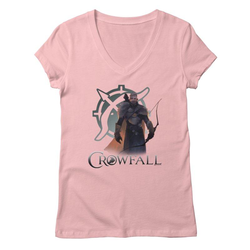 Crowfall Ranger 2 Women's Regular V-Neck by Shirts by Noc