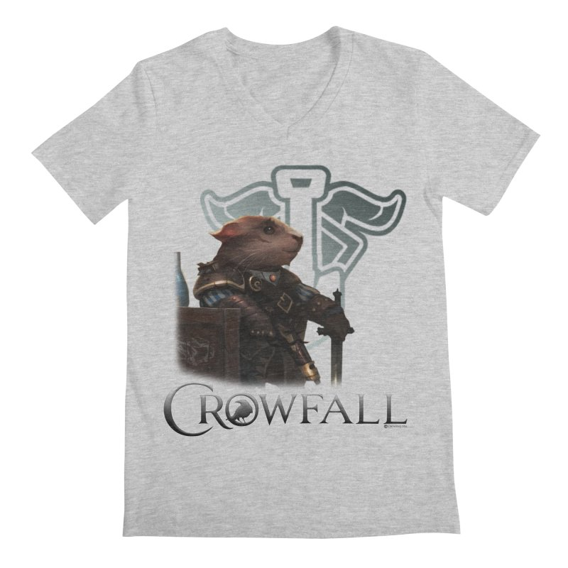 Crowfall Duelist Men's Regular V-Neck by Shirts by Noc